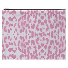 Leopard Pink Pattern Cosmetic Bag (xxxl)