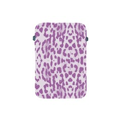 Purple Leopard Pattern Apple Ipad Mini Protective Soft Cases by Valentinaart