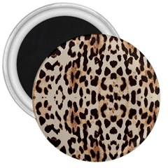 Leopard Pattern 3  Magnets by Valentinaart