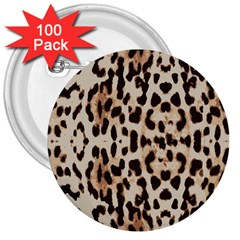 Leopard Pattern 3  Buttons (100 Pack)  by Valentinaart