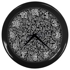 Pattern Wall Clocks (black) by Valentinaart