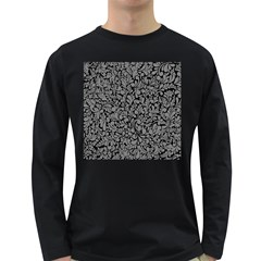 Pattern Long Sleeve Dark T Shirts