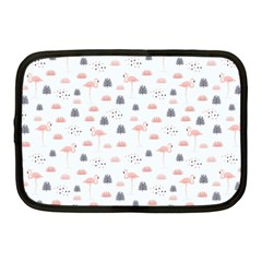 Cute Flamingos And  Leaves Pattern Netbook Case (medium)  by TastefulDesigns
