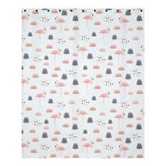 Cute Flamingos And  Leaves Pattern Shower Curtain 60  X 72  (medium)  by TastefulDesigns