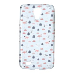 Cute Flamingos And  Leaves Pattern Galaxy S4 Active by TastefulDesigns