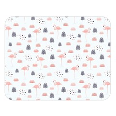 Cute Flamingos And  Leaves Pattern Double Sided Flano Blanket (large)  by TastefulDesigns