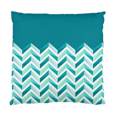 Zigzag Pattern In Blue Tones Standard Cushion Case (one Side) by TastefulDesigns