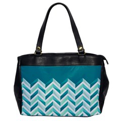 Zigzag Pattern In Blue Tones Office Handbags by TastefulDesigns