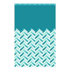 Zigzag Pattern In Blue Tones Shower Curtain 48  X 72  (small)  by TastefulDesigns
