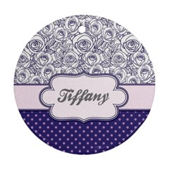 Pattern Purple 2 Ornament (round) by strawberrymilkstore8