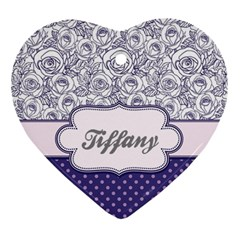 Pattern Purple 2 Ornament (heart) by strawberrymilkstore8