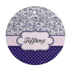 Pattern Purple 2 Round Ornament (two Sides) by strawberrymilkstore8