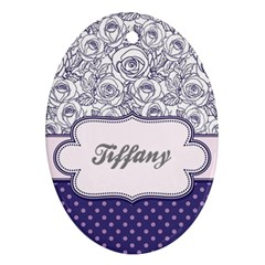 Pattern Purple 2 Oval Ornament (two Sides) by strawberrymilkstore8