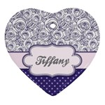 Pattern Purple 2 Heart Ornament (Two Sides) Front