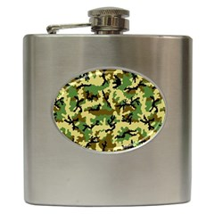 Camo Woodland Hip Flask (6 Oz) by sifis