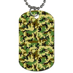 Camo Woodland Dog Tag (two Sides) by sifis