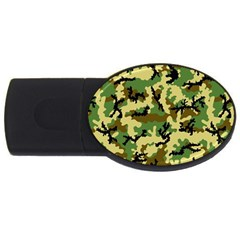 Camo Woodland Usb Flash Drive Oval (4 Gb) by sifis