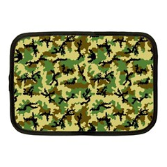 Camo Woodland Netbook Case (medium)  by sifis