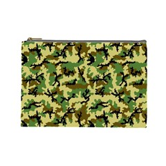 Camo Woodland Cosmetic Bag (large)  by sifis