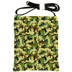 Camo Woodland Shoulder Sling Bags by sifis