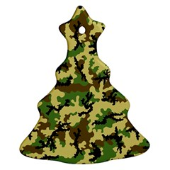Camo Woodland Ornament (christmas Tree)  by sifis