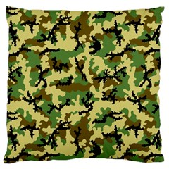 Camo Woodland Large Cushion Case (two Sides) by sifis