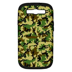 Camo Woodland Samsung Galaxy S Iii Hardshell Case (pc+silicone) by sifis