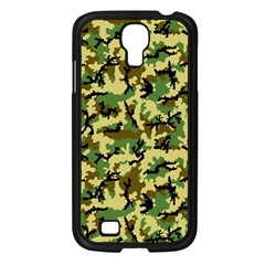 Camo Woodland Samsung Galaxy S4 I9500/ I9505 Case (black) by sifis