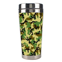 Camo Woodland Stainless Steel Travel Tumblers by sifis