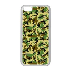 Camo Woodland Apple Iphone 5c Seamless Case (white) by sifis