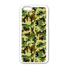 Camo Woodland Apple Iphone 6/6s White Enamel Case by sifis