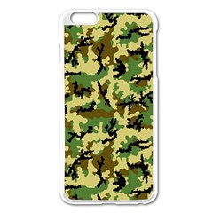Camo Woodland Apple Iphone 6 Plus/6s Plus Enamel White Case by sifis