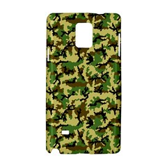 Camo Woodland Samsung Galaxy Note 4 Hardshell Case by sifis