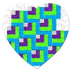 Geometric 3d Mosaic Bold Vibrant Jigsaw Puzzle (heart) by Amaryn4rt