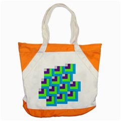 Geometric 3d Mosaic Bold Vibrant Accent Tote Bag by Amaryn4rt