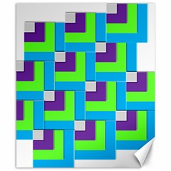 Geometric 3d Mosaic Bold Vibrant Canvas 8  X 10  by Amaryn4rt