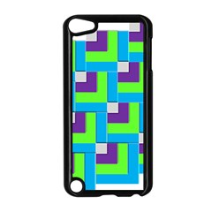 Geometric 3d Mosaic Bold Vibrant Apple Ipod Touch 5 Case (black) by Amaryn4rt
