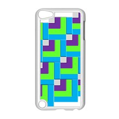 Geometric 3d Mosaic Bold Vibrant Apple Ipod Touch 5 Case (white) by Amaryn4rt