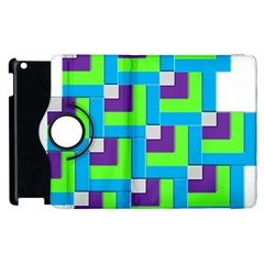 Geometric 3d Mosaic Bold Vibrant Apple Ipad 2 Flip 360 Case by Amaryn4rt