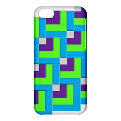 Geometric 3d Mosaic Bold Vibrant Apple Iphone 5c Hardshell Case by Amaryn4rt