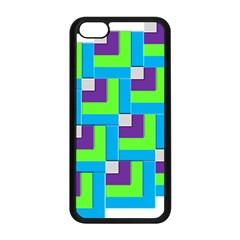 Geometric 3d Mosaic Bold Vibrant Apple Iphone 5c Seamless Case (black) by Amaryn4rt
