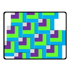 Geometric 3d Mosaic Bold Vibrant Double Sided Fleece Blanket (small)  by Amaryn4rt