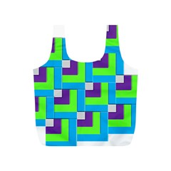 Geometric 3d Mosaic Bold Vibrant Full Print Recycle Bags (s)  by Amaryn4rt