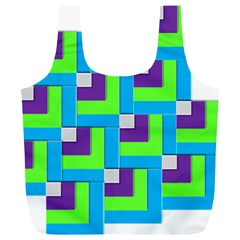 Geometric 3d Mosaic Bold Vibrant Full Print Recycle Bags (l)  by Amaryn4rt