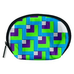 Geometric 3d Mosaic Bold Vibrant Accessory Pouches (medium)  by Amaryn4rt