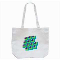 Geometric 3d Mosaic Bold Vibrant Tote Bag (white) by Amaryn4rt