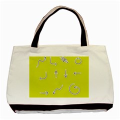 Arrow Line Sign Circle Flat Curve Basic Tote Bag (two Sides)