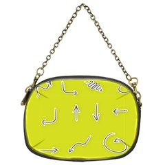 Arrow Line Sign Circle Flat Curve Chain Purses (one Side)  by Amaryn4rt