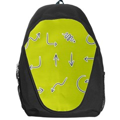 Arrow Line Sign Circle Flat Curve Backpack Bag by Amaryn4rt