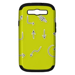 Arrow Line Sign Circle Flat Curve Samsung Galaxy S Iii Hardshell Case (pc+silicone) by Amaryn4rt